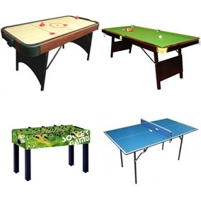4 שולחנות משחק קטנים