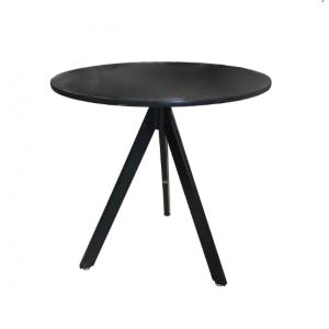 שולחן בית קפה שחור רגל משולשת