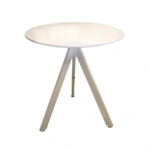 שולחן בית קפה לבן רגל משולשת