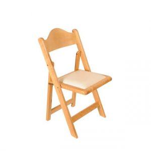 כיסא עץ מתקפל טבעי