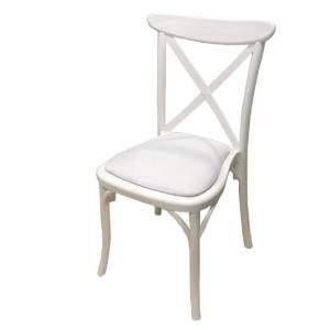 כיסא קרוס לבן