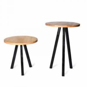 שולחן עץ רגל משולשת